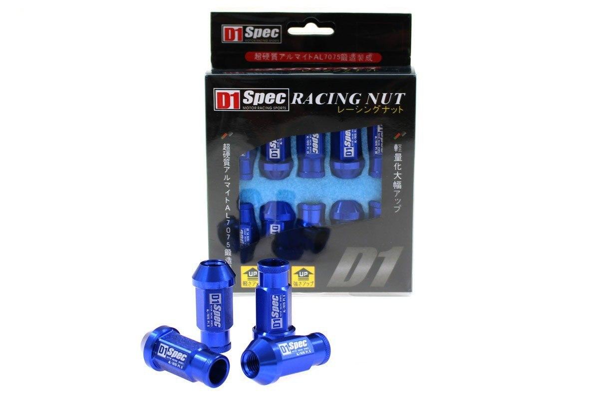 Nakrętki D1SPEC Replica Race M12x1.5 Blue - GRUBYGARAGE - Sklep Tuningowy